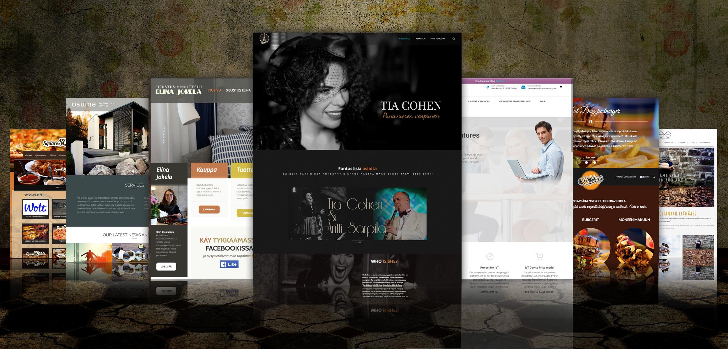 Kotisivut, webshop, suunnittelu